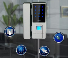 Top Biometric Fingerprint Door Lock Digital Fingerprint Password Key Lock Home Office Security Electronic Door Lock Alarm Audio(China)