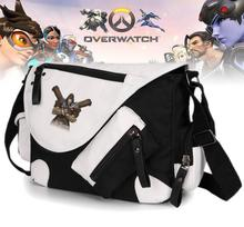 Game Overwatch Shoulder Bags Vintage classic Crossbody Bags Canvas Student Messenger Bags Canvas men women Shoulderbags 3 style(China)