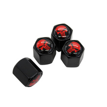 4Pcs/Set Red Punisher Beard Logo Car Badge Tyre Dust Cap Wheel Tire Valve Caps For Chevrolet Ford Cadillac Subaru