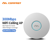 4pc Comfast 300M CF-E320NV2 Wireless Ceiling AP Router Wifi Access Point Indoor Long Range WI FI Repeater Antenna Router bridge