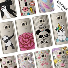 Funny Cartoon Case For Coque Samsung Galaxy S6 S7 Edge S8 Plus J2 J3 J5 J7 A3 A5 2017 2016 2015 Phone Back Cover(China)