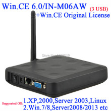 N380W thin client RDP WIN.CE TC Terminal with original WIN.CE COA windows 7 64 bit support black color 3 usb wifi builtin(China)