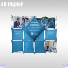 10ft Trade Show Booth High Quality Advertising Pop Up Display Frame With Tension Fabric Banner Printing