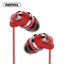 REMAX Metal in-ear Earphones with mic super clear Stereo Strong Bass High fidelity earbuds for iPhone Android Smartphone Mp3/mp4(China)
