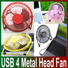 Small Mini Portable colorful metal USB Cooling Table Desk Air Fan Computer Laptop Fan Aluminium blade Mute Quiet and Durable