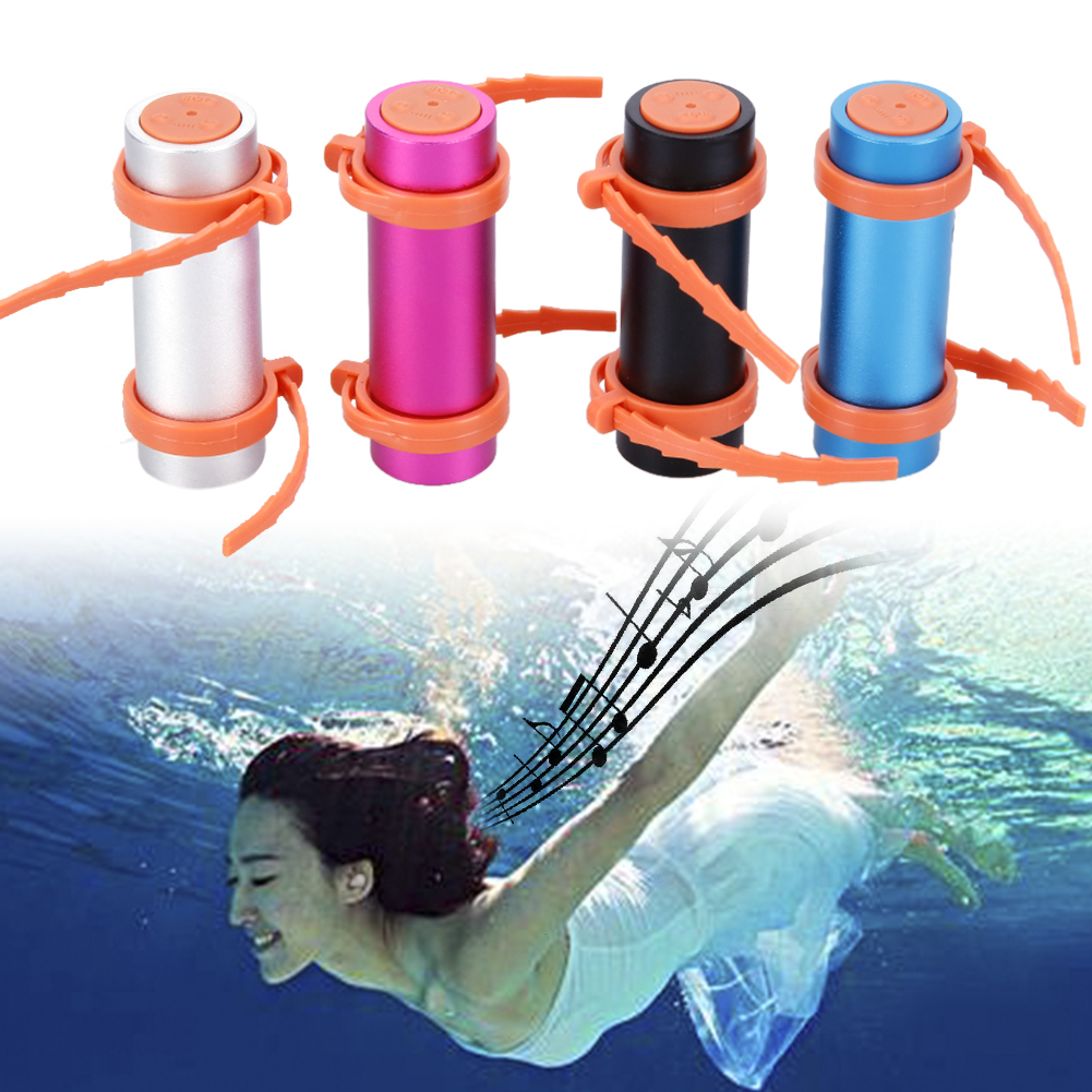 8GB Round shape Portable MP3 Player Waterproof Swimming Diving Sports MP3 Player with Earphones
