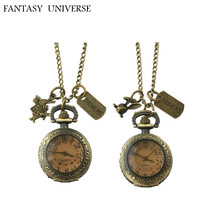FANTASY UNIVERSE Freeshipping wholesale 20pc pocket Watch necklace Dia2.7CM HZSSS01