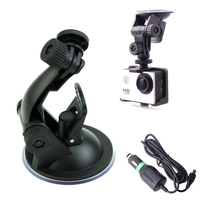 Car Charger and Car Mount For SJCAM SJ4000 Action Camera Car Suction Cup Adapter For Xiaomi yi SJCAM Sj4000 20