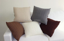 New Arrive Vintage Nordico Knitted Cushion Cover Pillow Case Fashion 45cm*45cm  E011 Coffee and Ivory 5 COLORS