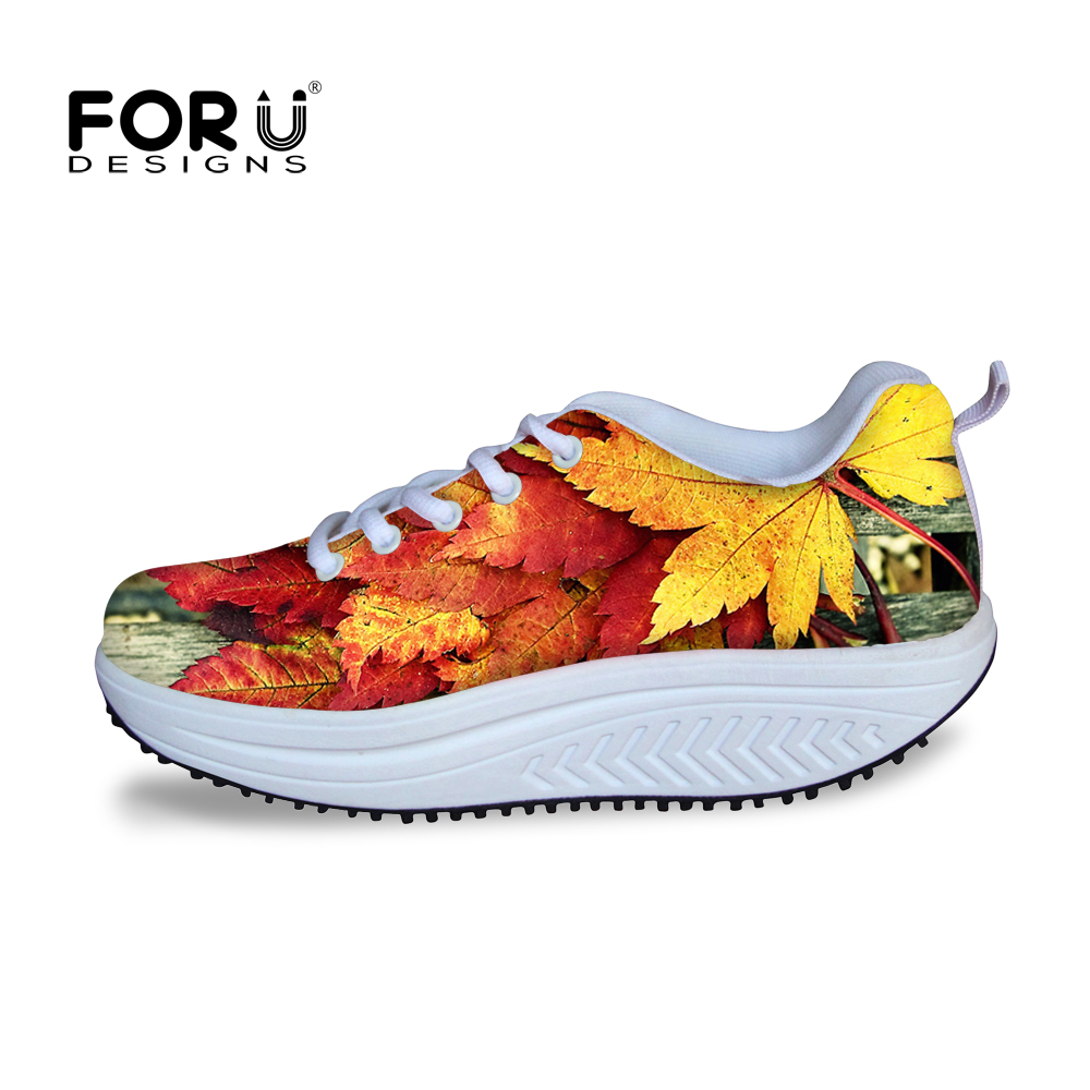 Casual Women Shoes 3D Maple Leaf Swing Shoes for Lady Girls Creepers Zapato Slimming Shoes Platform Wedges Sport Fitness Shoes<br><br>Aliexpress