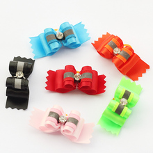 Armi store Handmade Accessories For Dog Fashion Style Ribbon Bow 21022 Bows Grooming Pet(China)