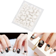 12pcs/Set Nail Art Sticker Decals DIY Gel Nails White Snowflake Christmas Makeup Nail Stickers Manicure Polish Decoration Tools