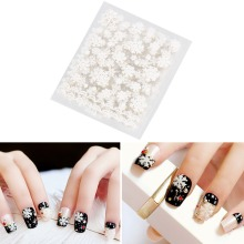 12pcs/Set Nail Art Sticker Decals DIY Gel Nails White Snowflake Christmas Makeup Nail Stickers Manicure Polish Decoration Tools(China)