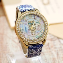 Buy Gnova Platinum Pu Leather Little Owl Style Watch Woman Vintage Retro Women Wristwatch Golden Rim Girl Dama Lady Clock for $3.59 in AliExpress store