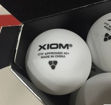 12 balls XIOM New material 3 star 40mm+ Pingpong Balls Table Tennis ball Tenis De Mesa 82021