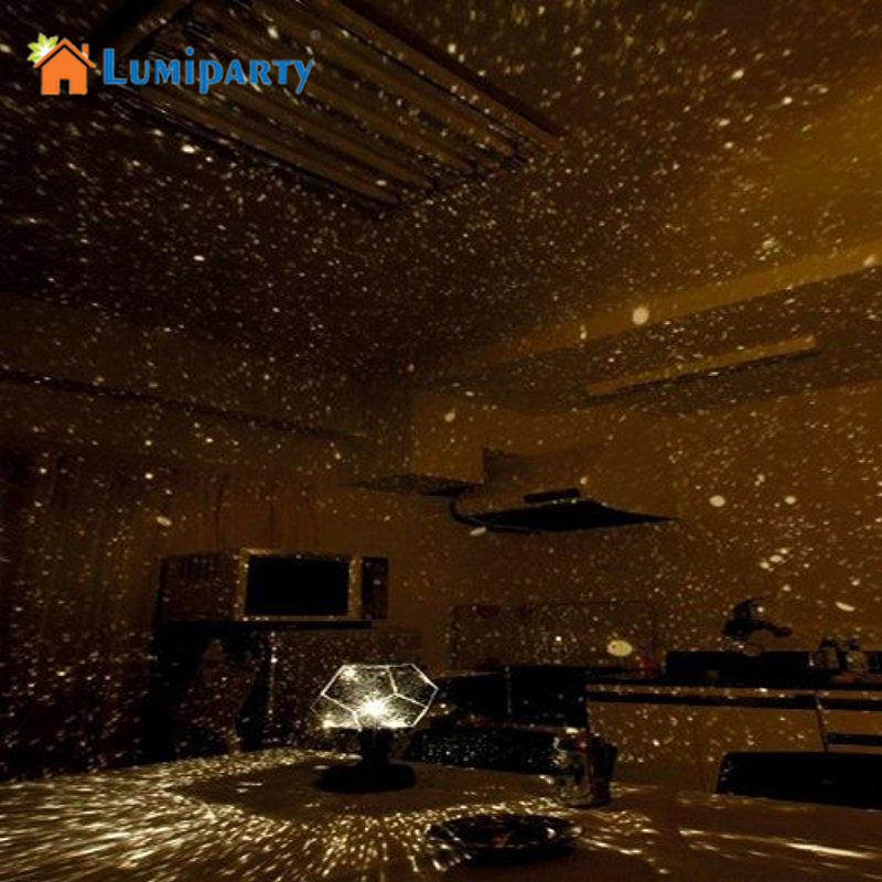 LumiParty 2017 LED Romantic Astro Star Sky Projection Cosmos Night Light Lamp new fashion and high quality Home Decor DIY Gifts(China (Mainland))