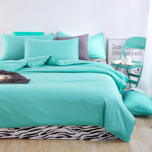 Candy Green Bedding set 3/4pcs Duvet cover sets bed linen Bed sets include Duvet Cover Bed sheet Pillowcase Queen full twin size