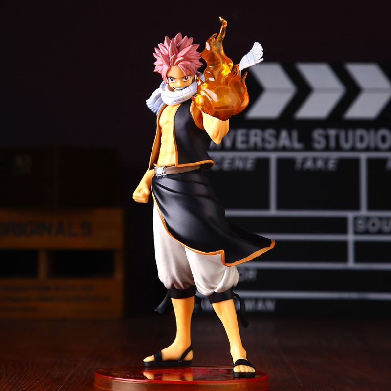 23cm PVC 1/7 Scale Anime Fairy Tail Natsu Dragnir Action Figure Painted PVC  Model Collection figures toys for New year gift <br>