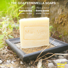 Four times goat milk sheep milk tremella cold process soap, cleansing shower bar babies Moisturizing whitening(China)