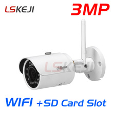 Dahua IPC-HFW2325S-W 3MP wifi IP camera WIFI SD Card slot mini IP67 outdoor bullet IR Network CCTV security Camera
