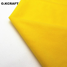 50*145cm Yellow Solid Color Fleece Fabric Tilda Plush Cloth Anti-Pilling Velvet Fleece Doll Tissue Fusible Loop Fabrics Q0402(China)