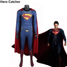 Hero Catcher Man Of Steel Cosplay Costume 3D Printing Superman Costume Superhero Superman Suit With 3D Logo Movie Hero Costume