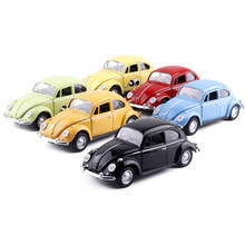 5 inch can open the door silent light Beetle toy alloy car model back force alloy simulation car