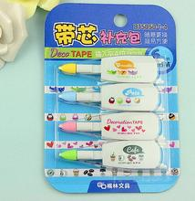 4Pcs/Pack Korea Stationery Cute Decorative Replacement Correction Tape Set Correction Fluid School & Office Supply(China)