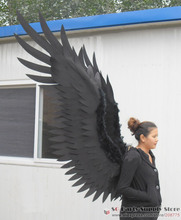 Adult's large size black Devil angel wings COS party stage show Displays shooting props Halloween supply EMS free shipping