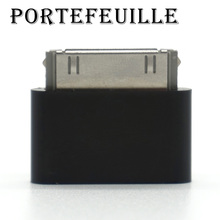 Portefeuille 10PCS Micro USB to Male 30-pin Converter Adapter For Apple iPhone 4S 4 S 3gs 4G iPad iPod Charge Cables Accessories