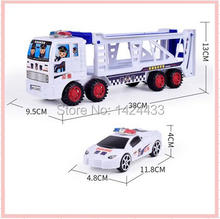 2017 Mini Diecast Car Pull back Construction vehicle Transporter trailer Truck Model Classic Baby Kids Education Gift Model Toys(China)