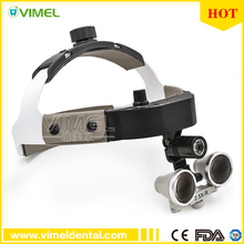 2.5X enlarging magnifier dental Surgical Loupe with Good light spot LED light ENT doctor operation product new model