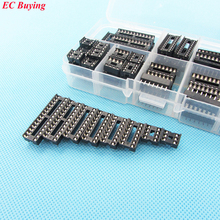 48pcs/set DIP IC Sockets Adapter Holder Type Socket Kit 6/8/14/16/18/20/24/28 P Plug in Assorted Kit