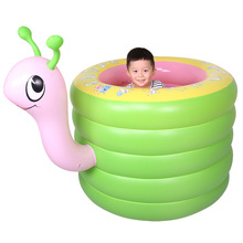 Children baby swimming bathed tub thickened inflatable tub of portable swimming pools Bathtubs(China)