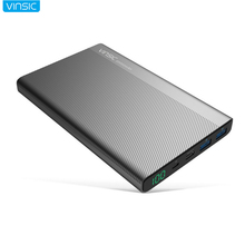 VINSIC 20000mAh High Capacity Power Bank TYPE-C Interface Portable Charger iphone X 7 8 plus Samsuang S8 Xiaomi5 Mobile