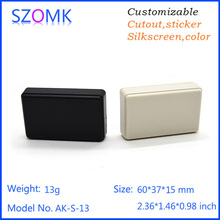 1 piece, 60*37*15mm szomk enclosures for electronics distribution box small electronics box plastic enclosure project box(China)