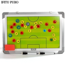 New Magnetic Football Coaching Tactic Board Soccer Coach tactics book set with Pen Dry Erase Clipboard Football Supplies WYQ(China)