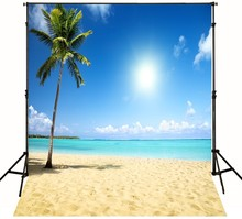Sea Sand Tropical Beach photo backdrop High-grade Vinyl cloth Computer printed Wedding Backgrounds