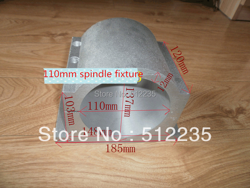 110mm spindle fixture cast aluminum  length 100mm Split type wholesale and retail without screw<br>