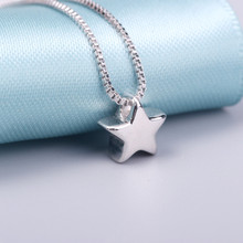 AAA 100% Silver 925 Necklace Shiny Star Necklace Sterling Silver Jewelry Fashion Necklaces & Pendants