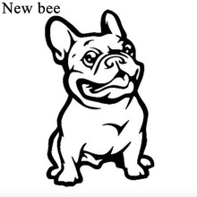 Newbee Car Styling Sticker Funny French Bulldog Pit Dog Window Fuel Tank Vinyl Motorcycle Decal Home Wall For Honda Kia Ford VW(China)