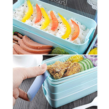 Portable Storage Lunch Boxes Picnic Outdoor Food Container Microwave Lunch Bento Box Lunchbox for Kids School Kitchen Gadget