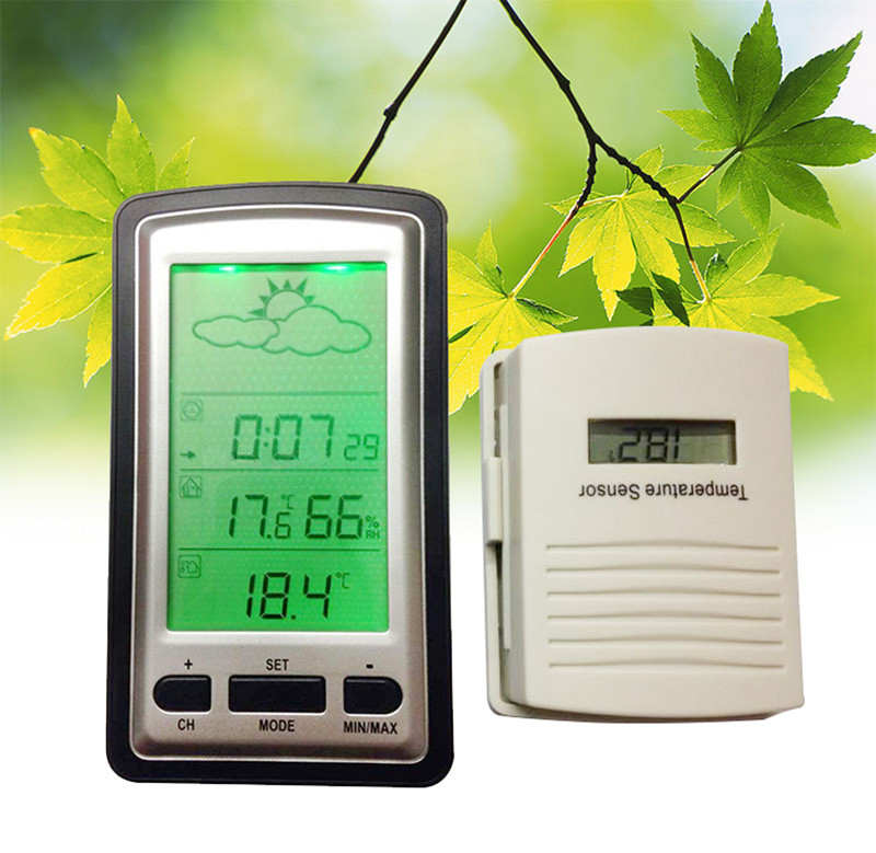 Wireless outdoor and indoor Thermometers Wireless Weather Station with Outdoor Thermometers Wall hanging or free standing <br>