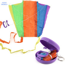 1 PCS/Set Creative Toys Pocket Kite Mini Flying Kite Portable storage case Travel Outdoor Game Toy For Children Gifts(China)