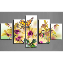 20*35x2+20*45x2+20*55x1 butterfly Flower triptych Diamond embroidery Painting rhinestones 3D picture cross Home decoration(China)