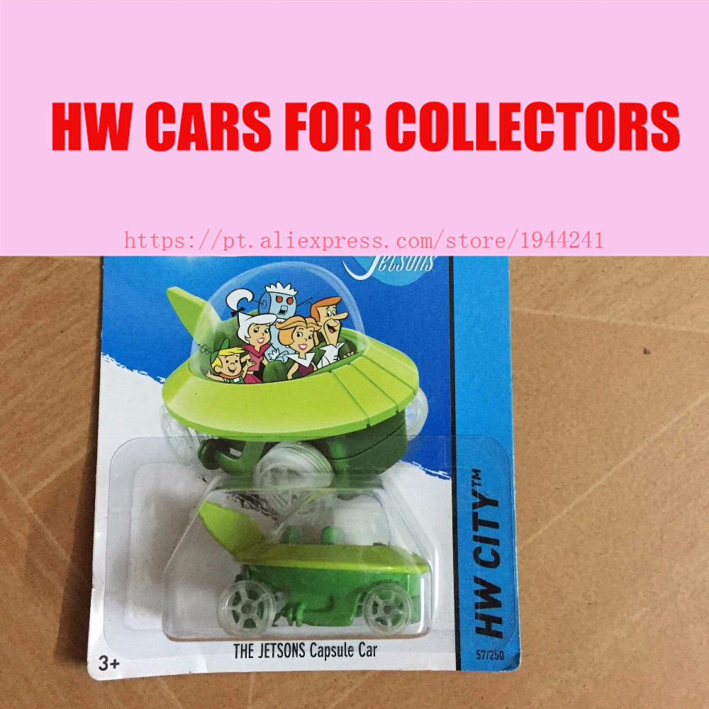 Toy cars Hot Wheels 1:64 Jetsons Capsule Car Models Metal Diecast Cars Collection Kids Toys Vehicle Children