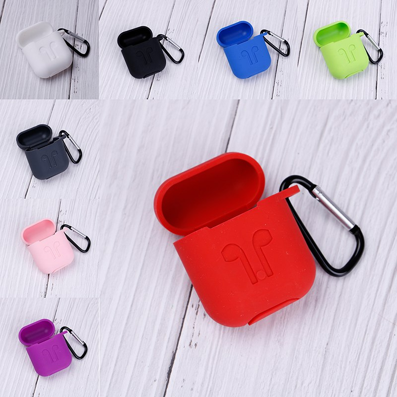 Waterproof Silicone Case For Apple Airpods Air Pods Earphone Protective Cover Shockproof for iphone 7 8 Headset Accessories Soft