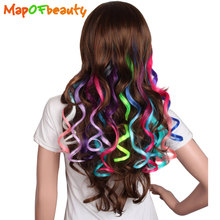 MapofBeauty 1 piece wavy ombre 16 Colors Available Clip in Hair extensions 50cm Synthetic Hair Real Natural hairpiece