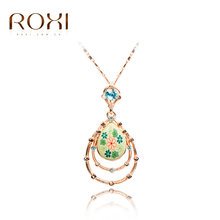 2017 ROXI TOP Quality Trendy Green Flower Girl 100% Manmade Jewelry Necklace , Polymer Clay German Technology Women Necklace