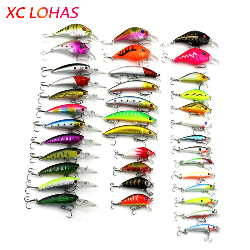 Hot 37pcs/lot Fishing Lure Mixed Color/Size/Weight Environmental Friendly Lures Hard Bait Fishing Tackle Free Shipping Atificial<br><br>Aliexpress